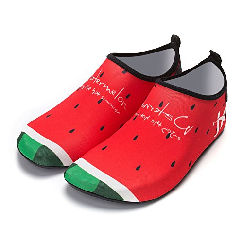 and Water Shoes Men Shoes for Women Shoes Beach Barefoot Quick Watermelon Dry Unisex Yoga 3 wqPXXT