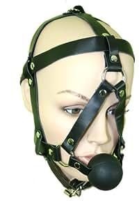 Bondage ball gag with harness adjustable