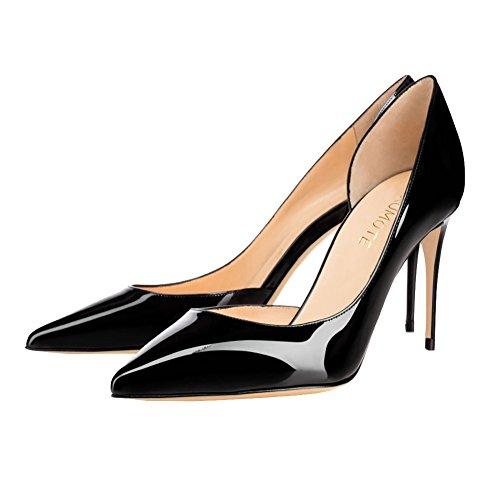 MERUMOTE - Zapatos de vestir de Material Sintético para mujer Schwarz-Lackleder