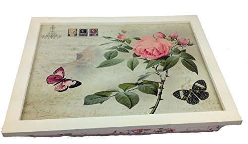 Amazon.de: Landhaus Knietablett Rosa Laptop Tablett Bambus ...
