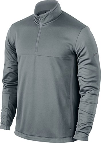 (Nike Golf Men's Therma-FIT Cover Cool Grey/Anthracite, MD)