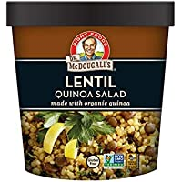 Dr. McDougall's Right Foods Lentil Quinoa Salad, 2.6 Ounce Cups (Pack of 6) Made w/Organic Quinoa, Vegan, Gluten-Free…