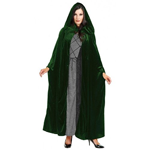 Pioneer Costume Ideas (OvedcRay Adult Velvet Hooded Cloak King Queen Renaissance Medieval Costume Cape Robe 52