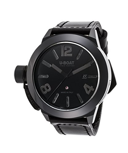 U-Boat 7337 Men's Classico Automatic Black Genuine Leather And Dial Watch