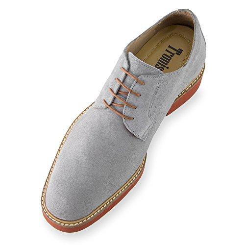 Fabricados Alzas Que Aumentan Gris cm de 7 A Altura Zapatos Corby Piel EN Modelo Hasta Hombre Masaltos con IwRPWgHnq