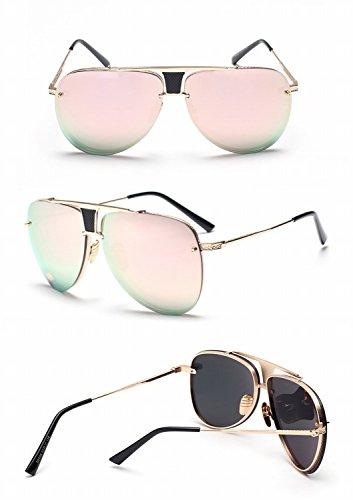 Mode Sonnenbrille Damen Sonnenbrille Sonnenbrille Goldrahmenpulver 5Ant6y