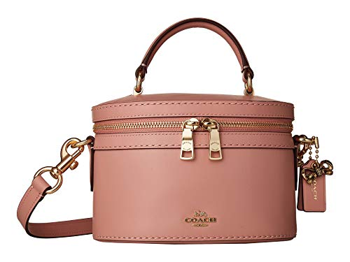 COACH Women's Refined Calf Leather Selena Trail Bag Gold/Peony One Size -