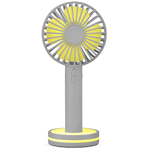 Function Labs Personal Mini USB Handheld Cooling Fan - Rechargeable, Compact, Portable, Adjustable 3 Fan Speed and Perfect for Kids/Camping- Comes with Magnetic Mirror Base (Grey Yellow) by Function Labs (Image #8)