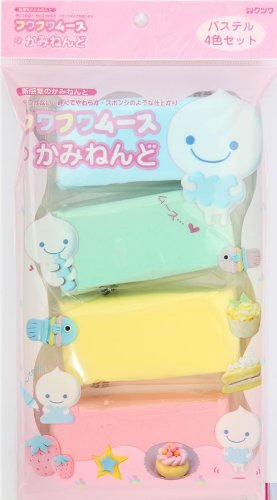 Fuwa Fuwa paper clay Japan decoden 4 colours