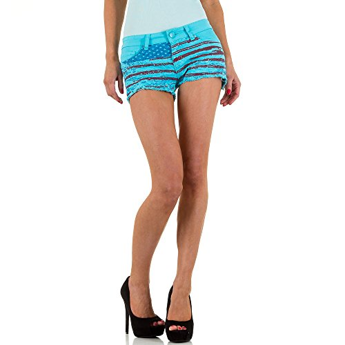 Hot Pants Jeans Shorts Für Damen , Blau In Gr. Xs/34 bei Ital-Design