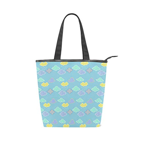 Canvas With Leather Tote...