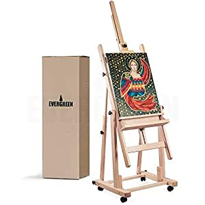 Amazon Com Heavy Duty H Frame Wooden Art Easel For Adults