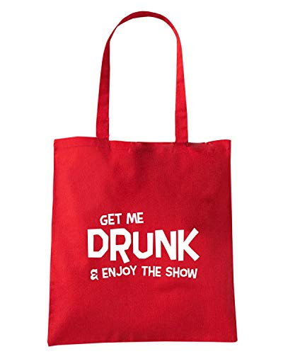 ENJOY0105 SHOW DRUNK Shopper AND THE ME Borsa GET ENJOY Rossa qwvxzxEpf