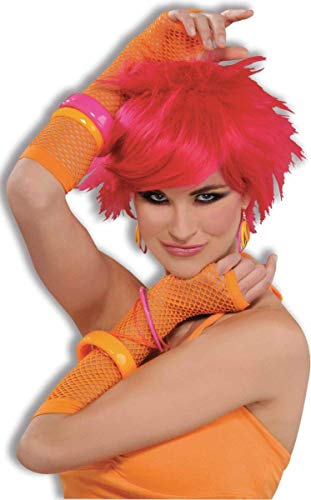 Forum Novelties 80s Long Neon Fishnet Gloves Costume Accessory
