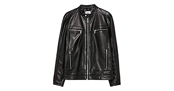 Amazon.com: Zara 8281/355/800 - Chaqueta de piel sintética ...