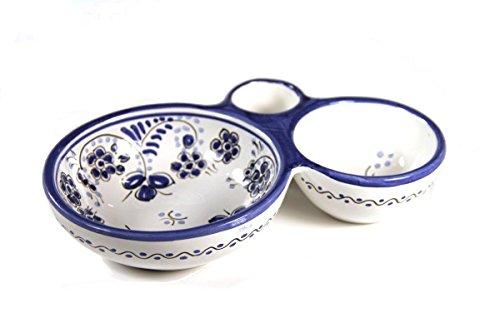 El Puente del Arzobispo Blue Flor Handpainted Ceramic Olive Dish by El Puente del Arzobispo (Image #2)