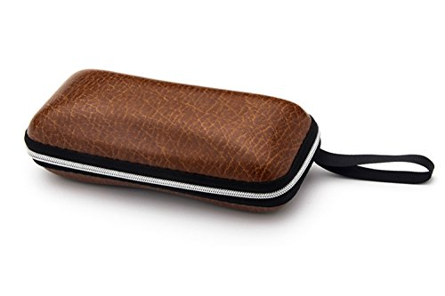 Jauxin Eyeglass Cases with Zipper Belt Loop ()