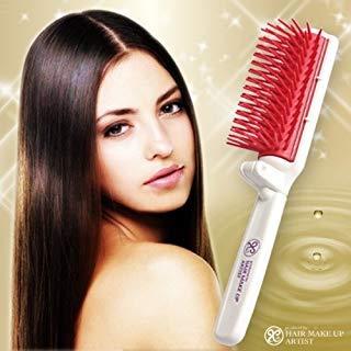 Hair Brush Lustrous Ceramide Macadamia Nut Oil Japan New Portable Beauty (Portable Hairdresser's lustrous hair brush)