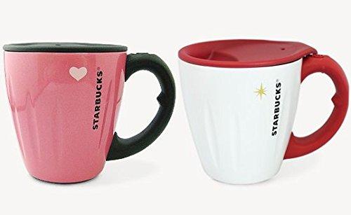 スタバ 限定 ステンレスマグカップ 2個セット バレンタイン 2012 ピンク パールピンク パールホワイト B079J25PDR
