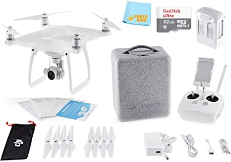 Amazon.com: DJI Phantom 4 Quadcopter Drone Aviones + Sandisk ...