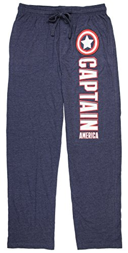 Marvel Comics Captain America Outlined Adult Sleep Lounge Pants