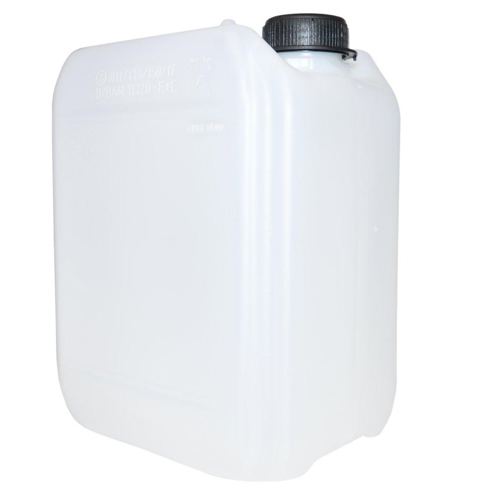 Dienes 2/Pieza Bid/ón vac/ía por 5/l de Agua de HDPE Transparente lechoso con Tapa de Rosca/ /Bid/ón 5L/ /con Autorizaci/ón