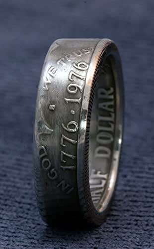 Amazon.com: 1976 Silver Half Dollar Coin Ring JFK Kennedy