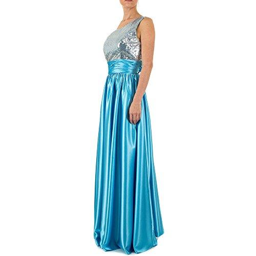 Für Gr 42 Ball Damen Satin In Design Festamo Kleid Ital Maxi Blau bei q68zIwxz