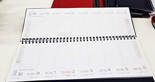 Planning agenda da tavolo 2020 settimanale spiralato con note ed appunti vari10x30 planner da tavolo BLU