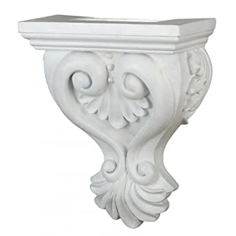 Kenroy Home 21461WH Corbel 20-Inch by 15-Inch Lighted Shelf Sconce in White, Paintable Semi-Gloss White