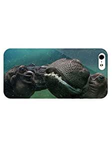 3d Full Wrap Case For Sam Sung Galaxy S4 I9500 Cover Animal Hippos In The Water