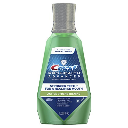 Crest pro-health advanced active strengthening mouthwash, 1 l, 2.43 Pound pack of 2