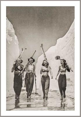 skiing poster photograph