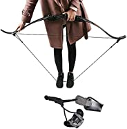 TOPARCHERY Traditional Leather Bow Stringer Recurve Long Bow Rope Hunting Shooting Bowstring Tool
