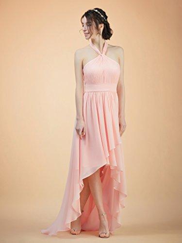 Chiffon Bridesmaid Prom Evening Dress Blue Floaty Royal Halter Gown High Low Party Alicepub qTwYgg