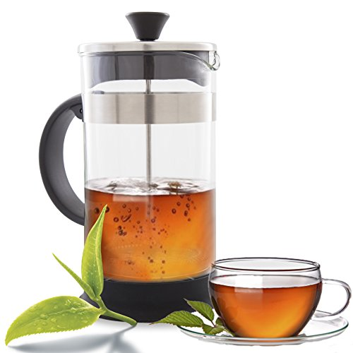 French Press Coffee, Tea & Espresso Maker - Easy Cleaning, Quality Filter System, Glass ...