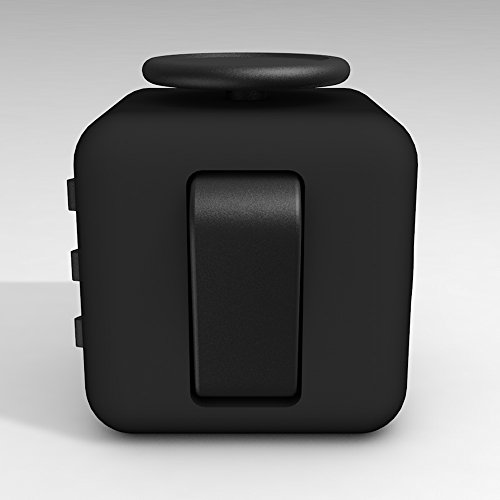 D-JOY Cube Fidget Toy Cube Relieves Stress and Anxiety Attention Toy for Work, Class, Home (Black) Photo #5