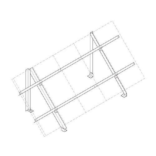 Low Profile Roof Ground Mount for Sharp 224 Four - Profile Ground Low Mount Roof