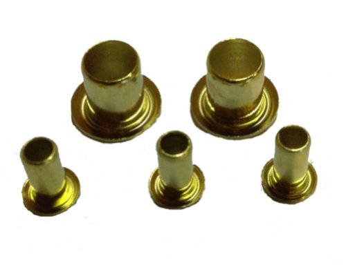GS4-8 BRASS EYELETS .121 x 1/4 - 100 pcs by Jay-Cee Sales and Rivet Inc.