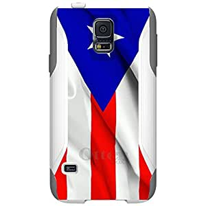 CUSTOM White OtterBox Commuter Series Case for Samsung Galaxy S5 - Red Whtie Blue Puerto Rico Flag