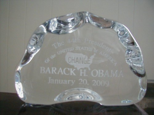 Obama Paperweight Inagural USA