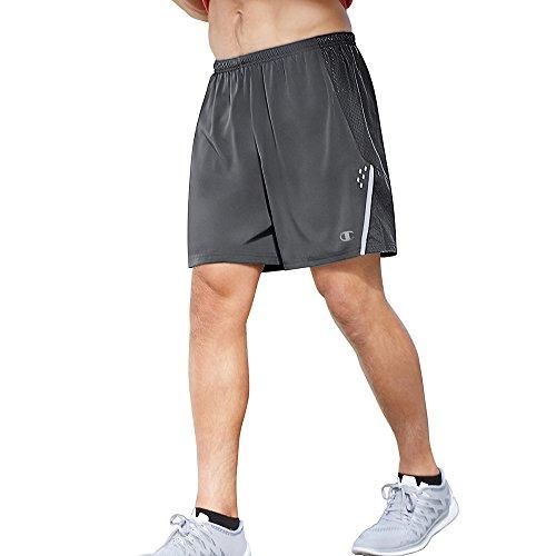 Champion Men's Performax Marathon Running Shorts, Stealth/Silverstone, XX-Large ()