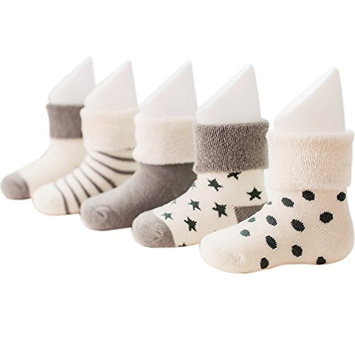 vwu-baby-thick-cuff-cotton-socks-5-pack-7-color-available-grey-0-6-months-0-3-months-3-6-months-todd