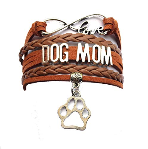 DOLON Infinity Love Dog Mom BraceletCoffee