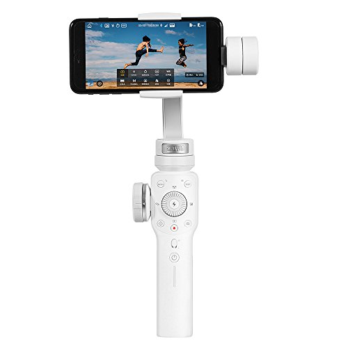 Andoer Zhiyun Smooth 4 3-Axis Handheld Gimbal Stabilizer Focus Pull & Zoom Capability/Objecting Tracking/Timelapse/PhoneGo/Two-way Charging WIth Cleaning Cloth for iPhone X 8 7 6 Plus