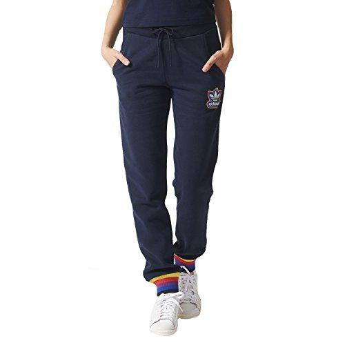 adidas Originals Women's Cuffed Fleece Tracksuit Bottoms - Navy - XXS/XS