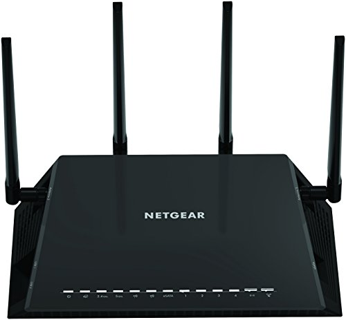 - Netgear (R7800-100NAS) Nighthawk X4S AC2600 4x4 Dual Band Smart WiFi Router, Gigabit Ethernet, MU-MIMO, Compatible with Amazon Echo/Alexa