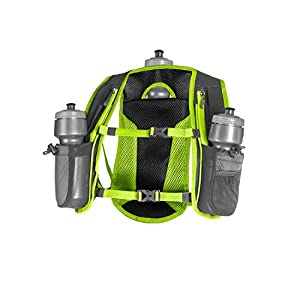 SLS3 Running Hydration Vest, Backpack, 3 Bottles, Adjustable Strap System - Lime