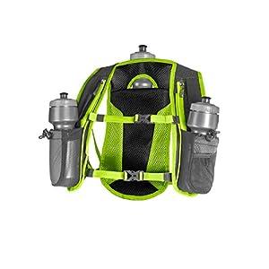 SLS3 Running Hydration Vest, Backpack, 3 Bottles, Adjustable Strap System - Lime