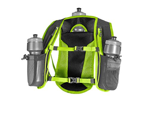 SLS3 Running Vest Hydration, Backpack, 3 Bottles, Adjustable Strap System - Lime